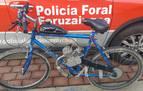 Detenido en Noáin por circular con una bici con motor de fabricación casera