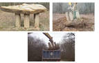 Destruidos en Etxarri Aranatz cuatro monolitos en memoria de miembros de ETA