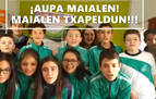 Escolares de La Presentación FESD de Villava envían su apoyo a Maialen Gurbindo