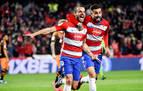 Un doblete de Soldado mete al Granada en semifinales de la Copa del Rey