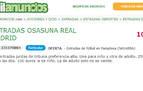 La reventa de entradas para el Osasuna-Real Madrid se dispara en los portales web