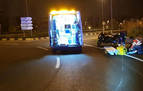 Un motorista, herido tras caer en la ronda en Ansoáin