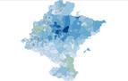 Consulta el mapa de calor de los pueblos de Navarra según los estudios de sus habitantes