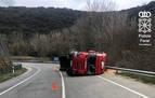 Herido leve un camionero en un accidente en la NA-132-A, en Acedo
