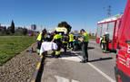 Un herido tras chocar dos automóviles en el polígono La Nava de Olite