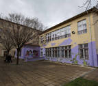 Las obras de reforma del Centro Carbonilla en la Rochapea, en abril