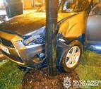 Una conductora se sale de la vía en la Rochapea y triplica la tasa de alcohol