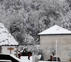 La nieve vuelve al norte de Navarra, con la cota a 700 metros