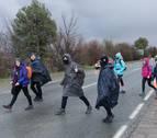 La Ribera peregrina contra el frío y la lluvia