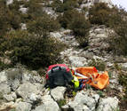 Un logroñés, grave tras caer por una ladera de 100 metros en Nazar