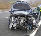 Salida de vía de un vehículo sin heridos en la A-15