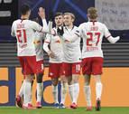 Sabitzer lidera la victoria y el pase a cuartos del Leipzig ante el Tottenham