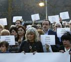 Las víctimas del terrorismo se concentran en Pamplona contra el silencio