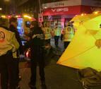 Muere un motorista en un accidente de tráfico en la calle Alcalá de Madrid