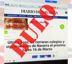 Bulo sobre el cierre de colegios en Navarra por el coronavirus