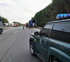 Incendio en el remolque de un camión en la AP15 sin heridos