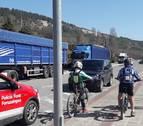 Policía Foral se moviliza para informar a los ciudadanos del estado de alarma