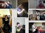 La banda de Artajona interpreta una obra con cada músico en su domicilio