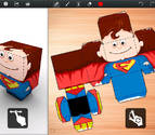 Una app para diseñar recortables con niños en casa