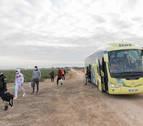 De bus escolar a transportar temporeros
