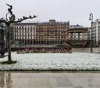 La nieve sorprende este martes a varias localidades navarras