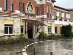 La UME continúa este domingo con la desinfección de edificios de toda Navarra