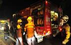 Bomberos de Peralta sofocan el incendio de una caldera en Villafranca