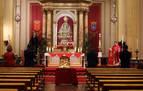 Aforo limitado y mascarilla obligatoria para entrar a la capilla de San Fermín