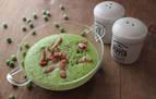 Una receta y un truco: Crema de guisantes y beicon