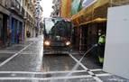 """Denuncian una agresión """"racista"""" a un barrendero en Pamplona"""