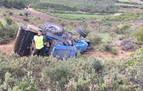 Herido un hombre de 64 años tras volcar su tractor en una finca agrícola en Viana