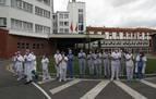 Homenaje de sanitarios navarros a los 48 médicos fallecidos en España