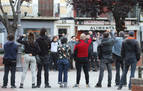 Una manifestación no autorizada recorre el Casco Viejo en apoyo al etarra Patxi Ruiz