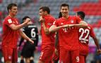 El Bayern regala una 'manita' al Fortuna Düsseldorf en su camino al título