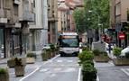La calle Amaya estrena su nueva imagen más peatonal