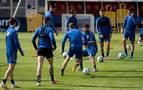 Osasuna vuelve a los entrenamientos tras el punto logrado en el Reale Arena