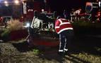 Un herido grave en una salida de vía en Falces con positivo en alcohol y drogas del conductor