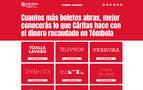 Cáritas lanza boletos solidarios para ayudar a familias en situación difícil