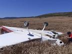 Dos heridos leves tras el aterrizaje forzoso de una avioneta en Aibar