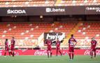 Osasuna muestra dos caras en Mestalla