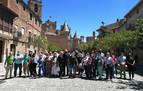 La Guardia Civil interviene para proteger a un grupo de Vox en Olite