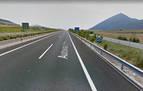 Cuatro heridos leves tras salirse de la vía en la A21 en Monreal