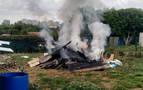 Provoca un incendio al hacer fuego en una huerta de Miluze