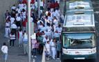 Las villavesas pierden un 75% de viajeros en los 'no Sanfermines'
