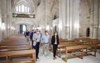 La iglesia del Monasterio de Irache estrena pavimentación, iluminación y mobiliario
