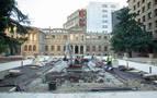 Comienzan los trabajos de restauración del jardín del Palacio de Navarra