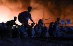 El campo de refugiados de Moria en Lesbos queda destruido en un incendio
