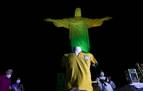 El Cristo Redentor de Río se ilumina de amarillo y verde por el 80 cumpleaños de Pelé