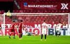 La increíble reacción de Sergio Herrera tras el penalti en el Sevilla-Osasuna
