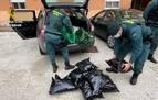 Detenido por tráfico de drogas en Cizur e incautados 8,8 kilos de marihuana